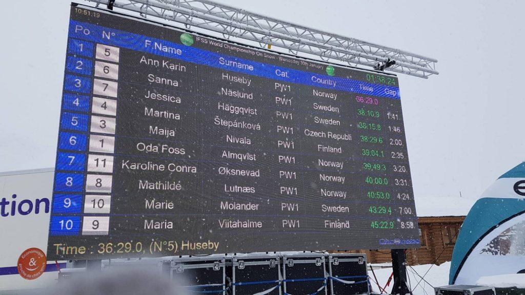 Martina Štěpánková s Timem 4. na světě