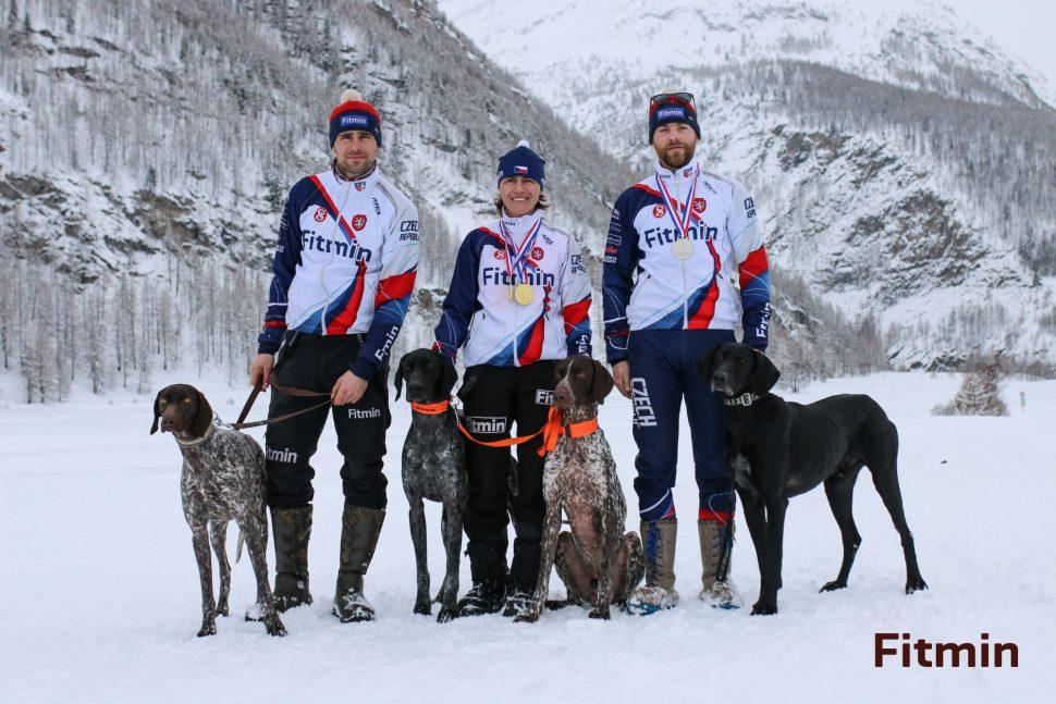 Jirka, Martina, Michal - závodníci Fitmin týmu